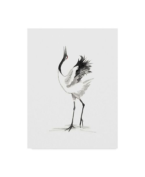 "Trademark Global Naomi Mccavitt Japanese Cranes IV Canvas Art - 20"" x 25"""