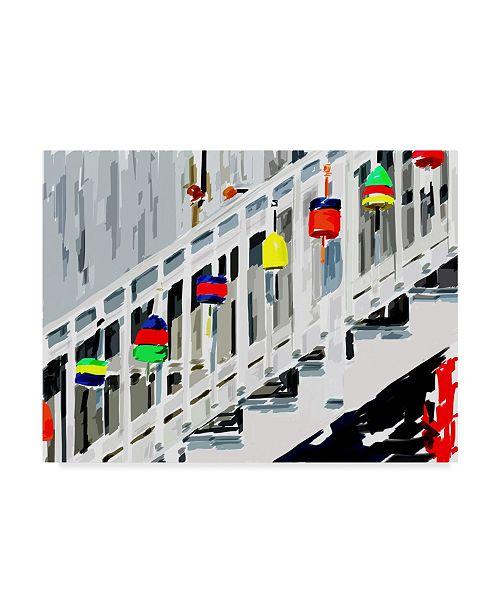 """Trademark Global Emily Kalina Vibrant Buoys IV Canvas Art - 37"""" x 49"""""""