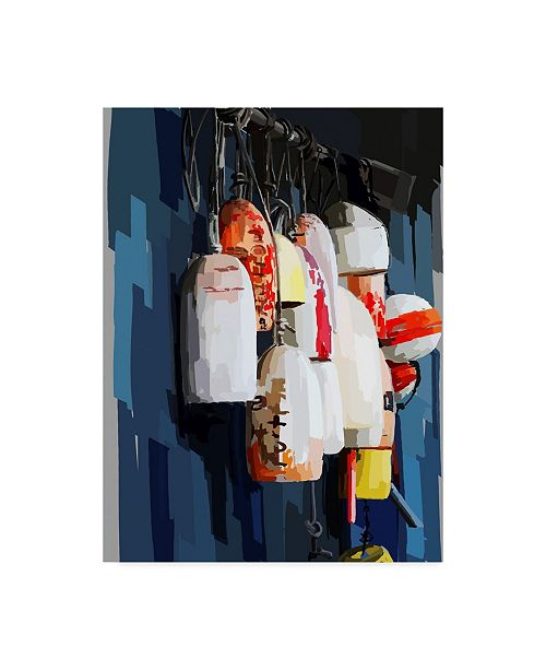 "Trademark Global Emily Kalina Vibrant Buoys II Canvas Art - 37"" x 49"""
