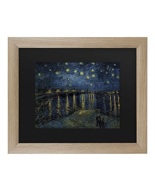 "Trademark Global Vincent Van Gogh The Starry Night II Matted Framed Art - 37"" x 49"""