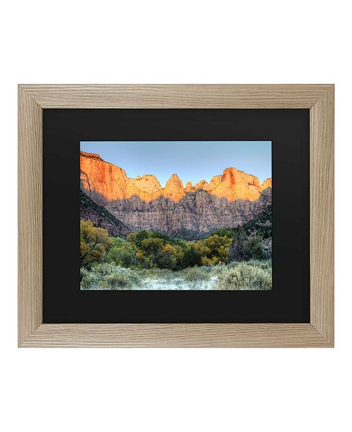 "Trademark Global Pierre Leclerc Zion Sunrise Matted Framed Art - 37"" x 49"""
