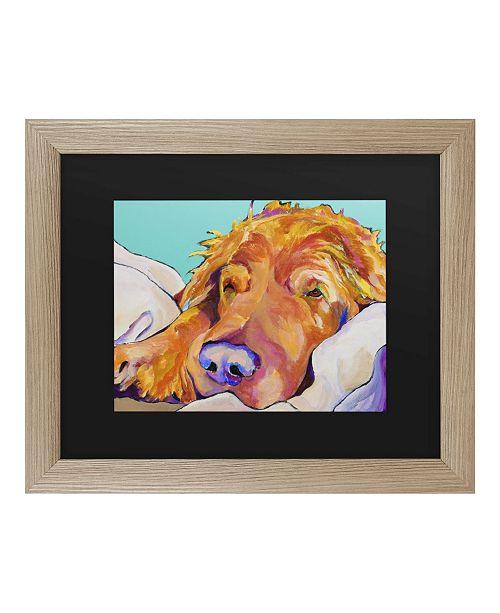 "Trademark Global Pat Saunders-White Snoozer King Matted Framed Art - 37"" x 49"""