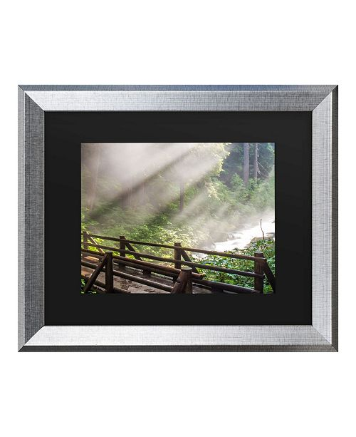 "Trademark Global Pierre Leclerc Forest Sunlight Matted Framed Art - 27"" x 33"""