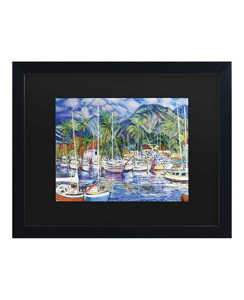 "Trademark Global Masters Fine Art Lahaina Marina Matted Framed Art - 15"" x 20"""