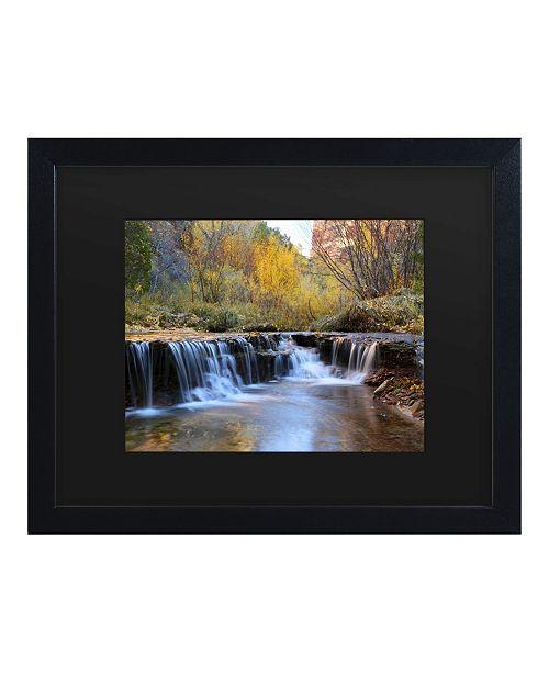 """Trademark Global Pierre Leclerc Zion Autumn Matted Framed Art - 15"""" x 20"""""""
