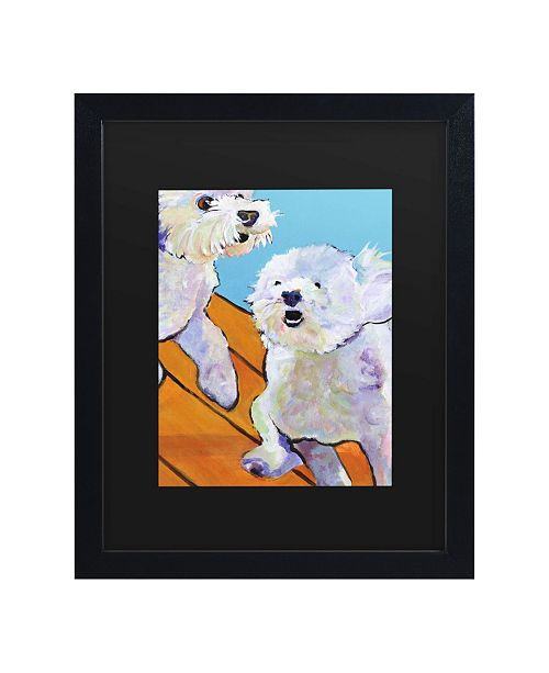 "Trademark Global Pat Saunders-White Catch Me Matted Framed Art - 15"" x 20"""