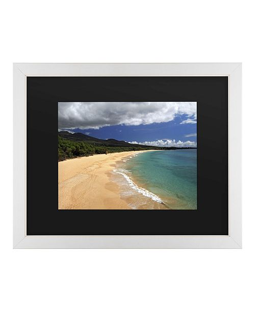 "Trademark Global Pierre Leclerc Makena Maui Matted Framed Art - 20"" x 25"""