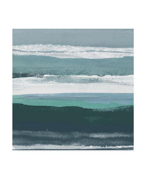 "Trademark Global Rob Delamater Teal Sea II Canvas Art - 20"" x 25"""