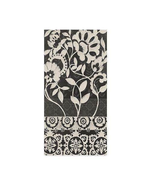 """Trademark Global Chariklia Zarris Midnight Batik I Canvas Art - 20"""" x 25"""""""