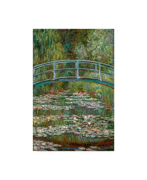 "Trademark Global Claude O. Monet Bridge Over a Pond of Water Lilies Canvas Art - 20"" x 25"""