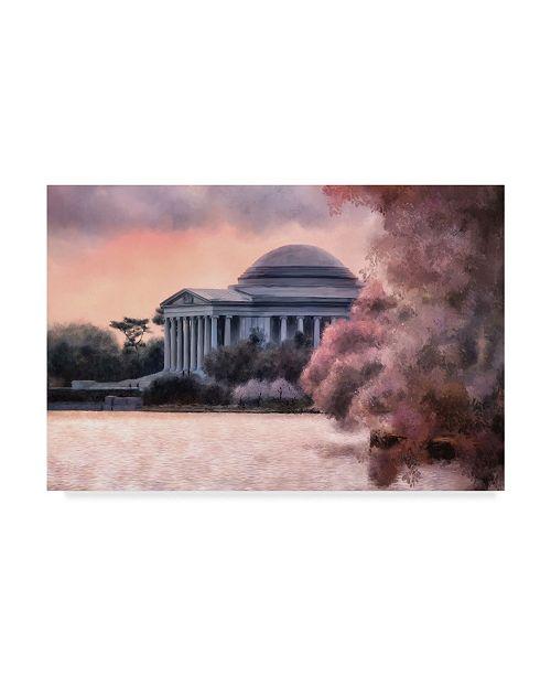 "Trademark Global Lois Bryan A Cherry Blossom Dawn Canvas Art - 15"" x 20"""