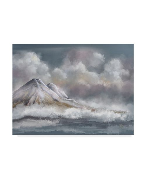 "Trademark Global Lois Bryan Clouds Mountains Sea Canvas Art - 15"" x 20"""