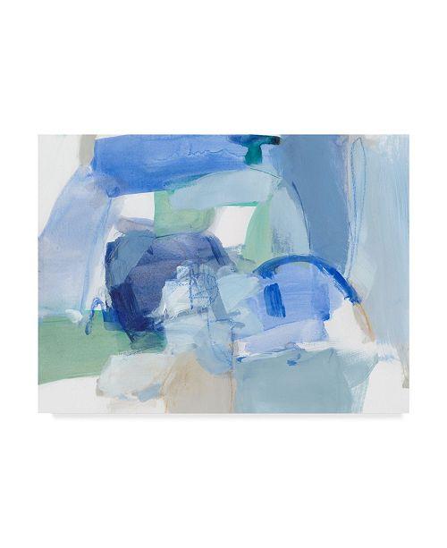 "Trademark Global Christina Long Blue Formation II Canvas Art - 15"" x 20"""