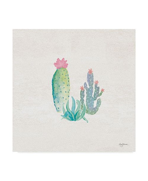 "Trademark Global Mary Urban Bohemian Cactus V Canvas Art - 20"" x 25"""