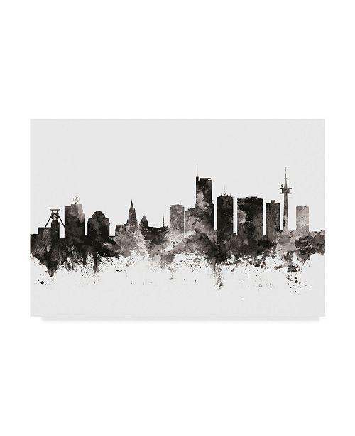 "Trademark Global Michael Tompsett Essen Germany Skyline Black White Canvas Art - 15"" x 20"""