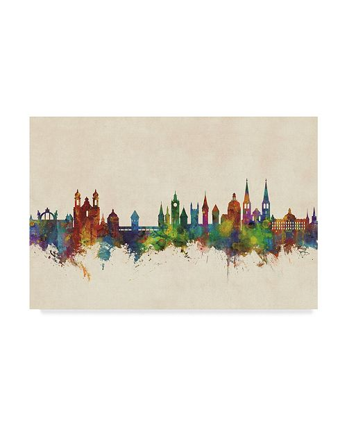"Trademark Global Michael Tompsett Lucerne Switzerland Luzern Skyline Canvas Art - 20"" x 25"""