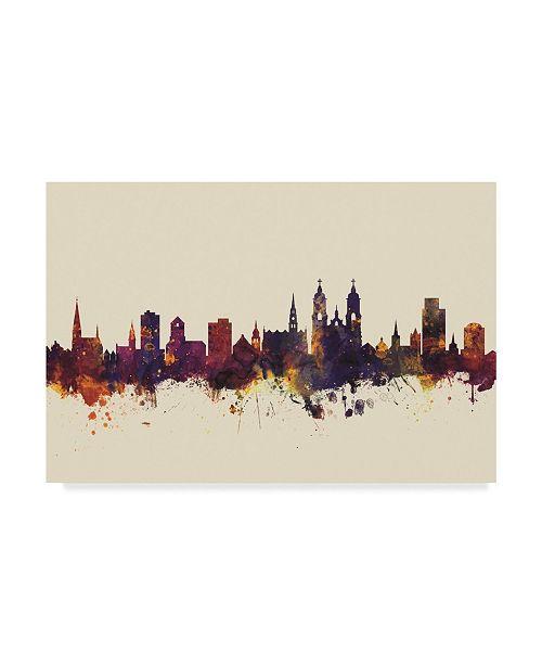 "Trademark Global Michael Tompsett St Gallen Switzerland Skyline III Canvas Art - 15"" x 20"""