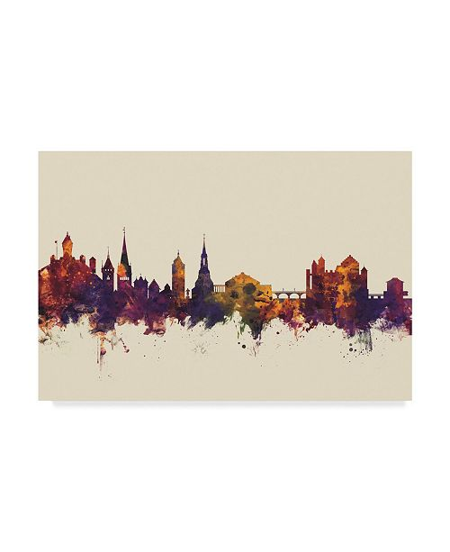 "Trademark Global Michael Tompsett Schaffhausen Switzerland Skyline III Canvas Art - 15"" x 20"""