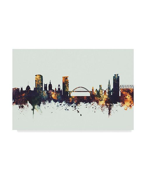"Trademark Global Michael Tompsett Sunderland England Skyline IV Canvas Art - 15"" x 20"""