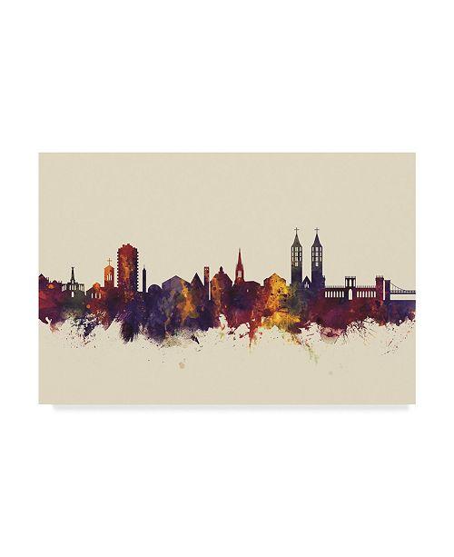 "Trademark Global Michael Tompsett Kassel Germany Skyline III Canvas Art - 15"" x 20"""