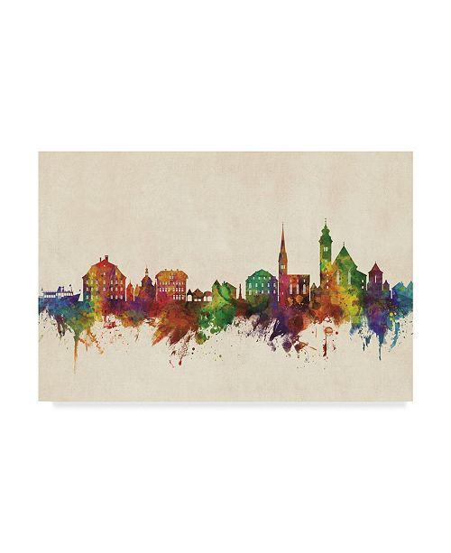"Trademark Global Michael Tompsett Hallstatt Austria Skyline Canvas Art - 20"" x 25"""