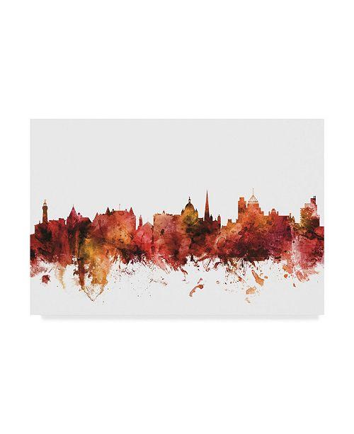"Trademark Global Michael Tompsett Victoria Canada Skyline Red Canvas Art - 20"" x 25"""