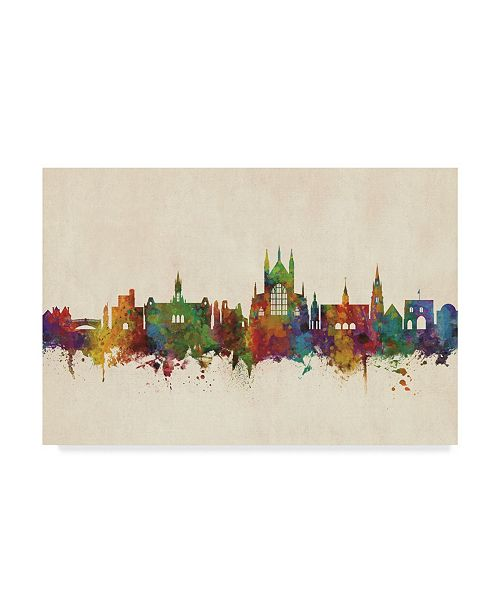 "Trademark Global Michael Tompsett Winchester England Skyline Canvas Art - 20"" x 25"""