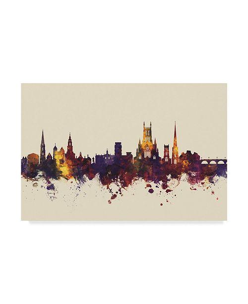 "Trademark Global Michael Tompsett Worcester England Skyline III Canvas Art - 20"" x 25"""