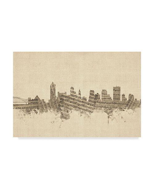 "Trademark Global Michael Tompsett Memphis Tennessee Music Skyline Canvas Art - 20"" x 25"""