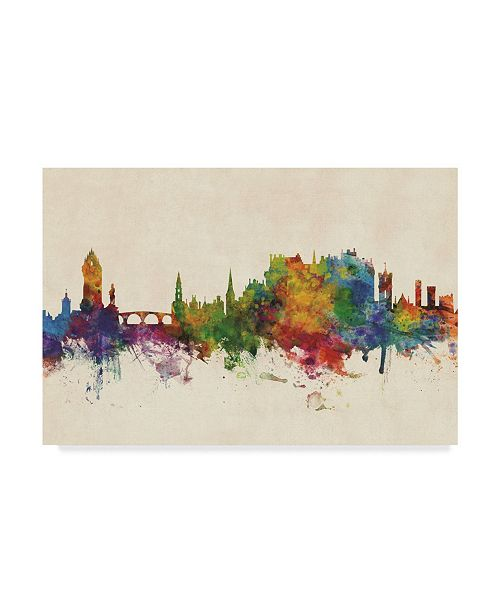 "Trademark Global Michael Tompsett Stirling Scotland Skyline Canvas Art - 20"" x 25"""