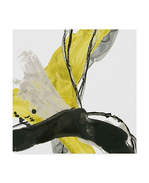 "Trademark Global June Erica Vess Citron Flux III Canvas Art - 15"" x 20"""