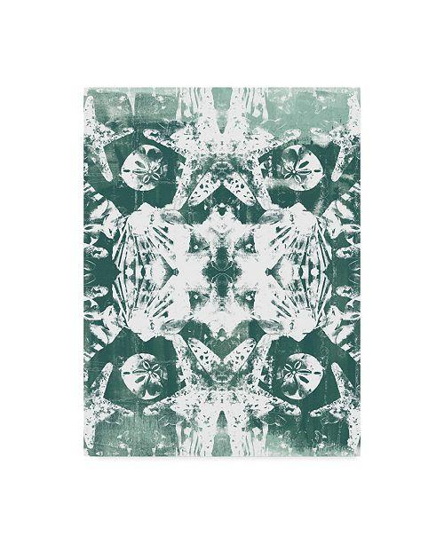"Trademark Global June Erica Vess Sea Green Kaleidoscope III Canvas Art - 37"" x 49"""