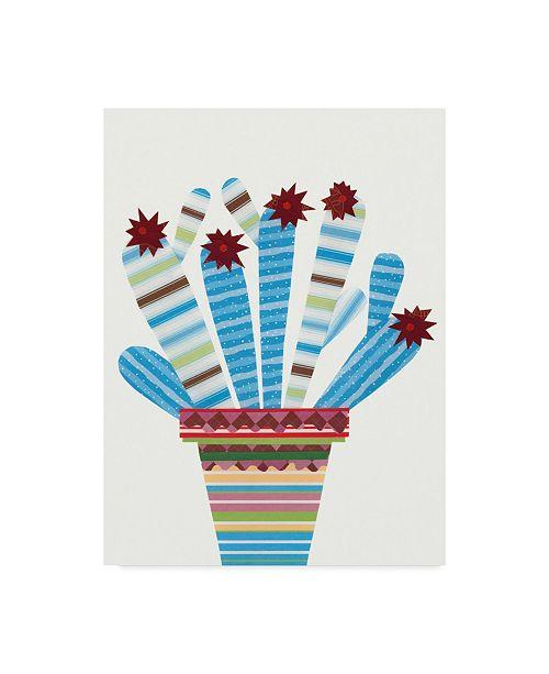 "Trademark Global Regina Moore Cheerful Succulent I Canvas Art - 37"" x 49"""