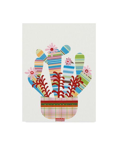 "Trademark Global Regina Moore Cheerful Succulent VI Canvas Art - 37"" x 49"""
