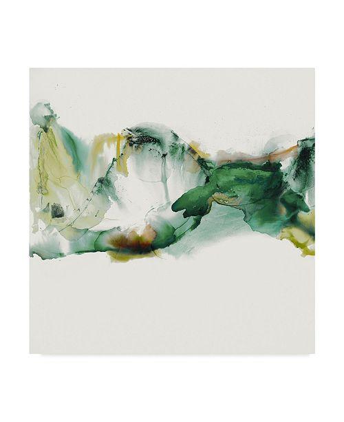 """Trademark Global Sisa Jasper Ua Ch Green Terrain II Canvas Art - 27"""" x 33"""""""