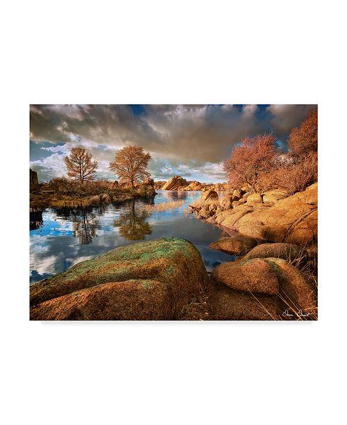 "Trademark Global David Drost Rocky Lake I Canvas Art - 20"" x 25"""