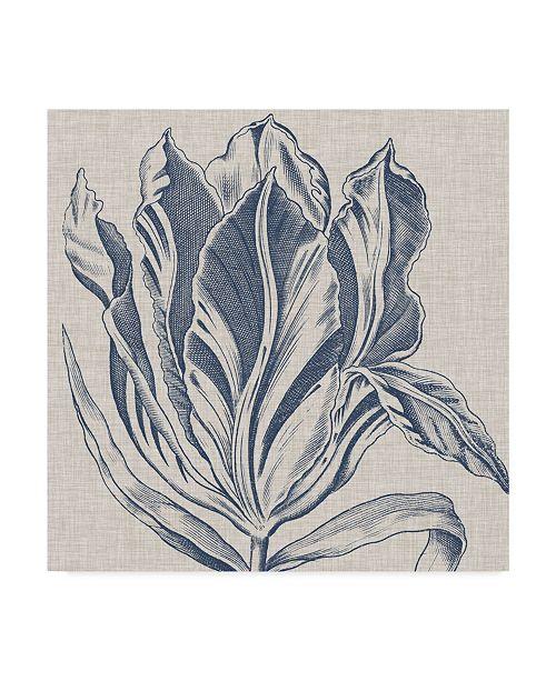"Trademark Global Vision Studio Indigo Floral on Linen I Canvas Art - 27"" x 33"""