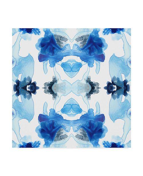 "Trademark Global June Erica Vess Blue Kaleidoscope I Canvas Art - 27"" x 33"""