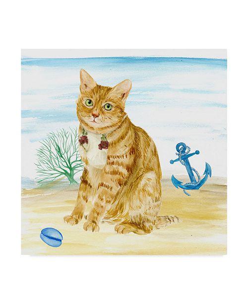 """Trademark Global Melissa Wang Summer Purr Party IV Canvas Art - 15"""" x 20"""""""