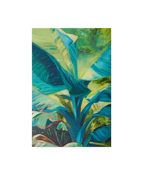 "Trademark Global Suzanne Wilkins Green Banana Duo I Canvas Art - 20"" x 25"""