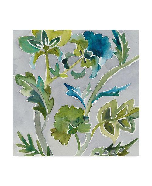 "Trademark Global Chariklia Zarris Batik Vines I Canvas Art - 20"" x 25"""