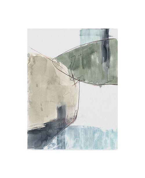 """Trademark Global Jennifer Goldberger Verdant Divide II Canvas Art - 20"""" x 25"""""""