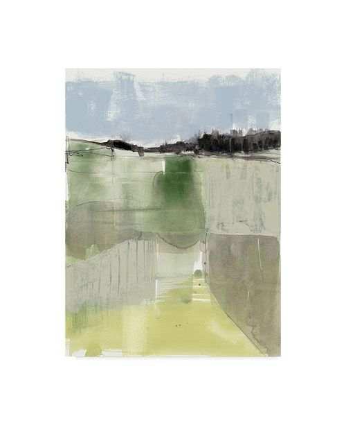 "Trademark Global Jennifer Goldberger Sage Field I Canvas Art - 15"" x 20"""