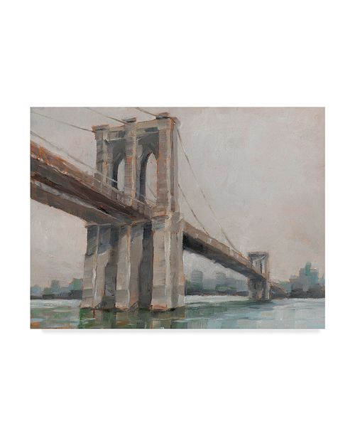 "Trademark Global Ethan Harper Spanning the East River I Canvas Art - 15"" x 20"""