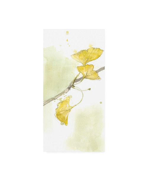 "Trademark Global Jennifer Goldberger Ginkgo Triptych II Canvas Art - 20"" x 25"""