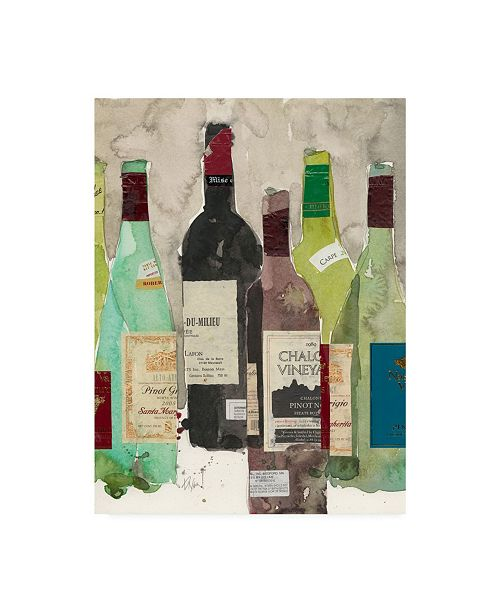 "Trademark Global Samuel Dixon Red Or White I Canvas Art - 15"" x 20"""