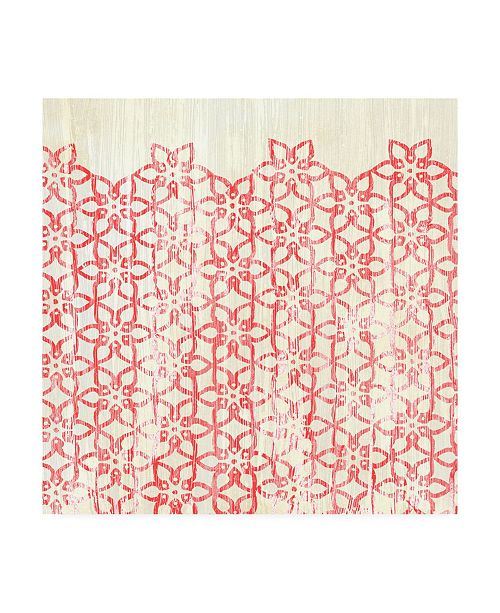 """Trademark Global June Erica Vess Weathered Patterns in Red IX Canvas Art - 15"""" x 20"""""""