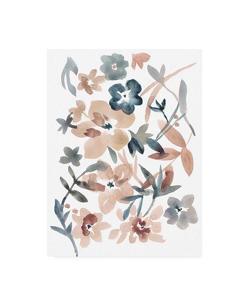 "Trademark Global Chariklia Zarris Martinique Floral I Canvas Art - 20"" x 25"""