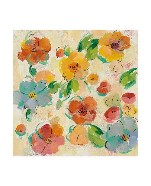"Trademark Global Silvia Vassileva Playful Floral Trio III Canvas Art - 20"" x 25"""
