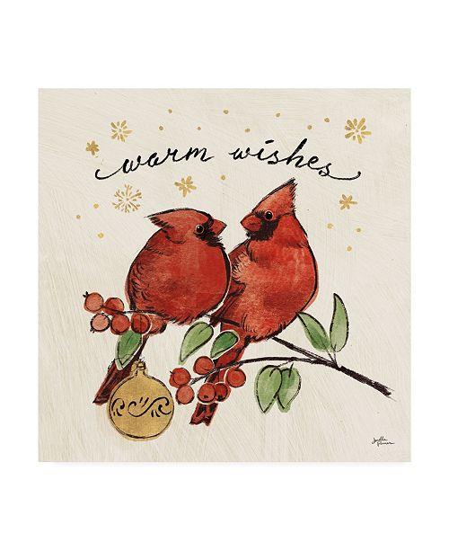 "Trademark Global Janelle Penner Christmas Lovebirds IX Canvas Art - 20"" x 25"""